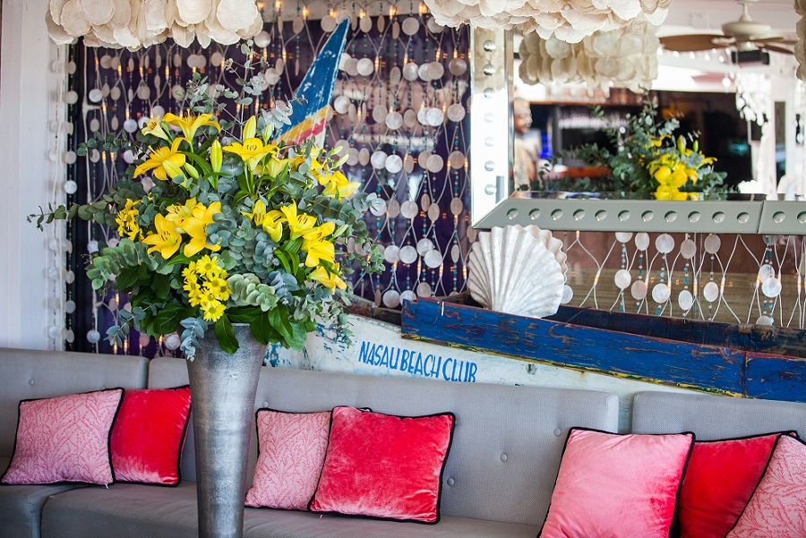 nassau beach club ibiza flowers