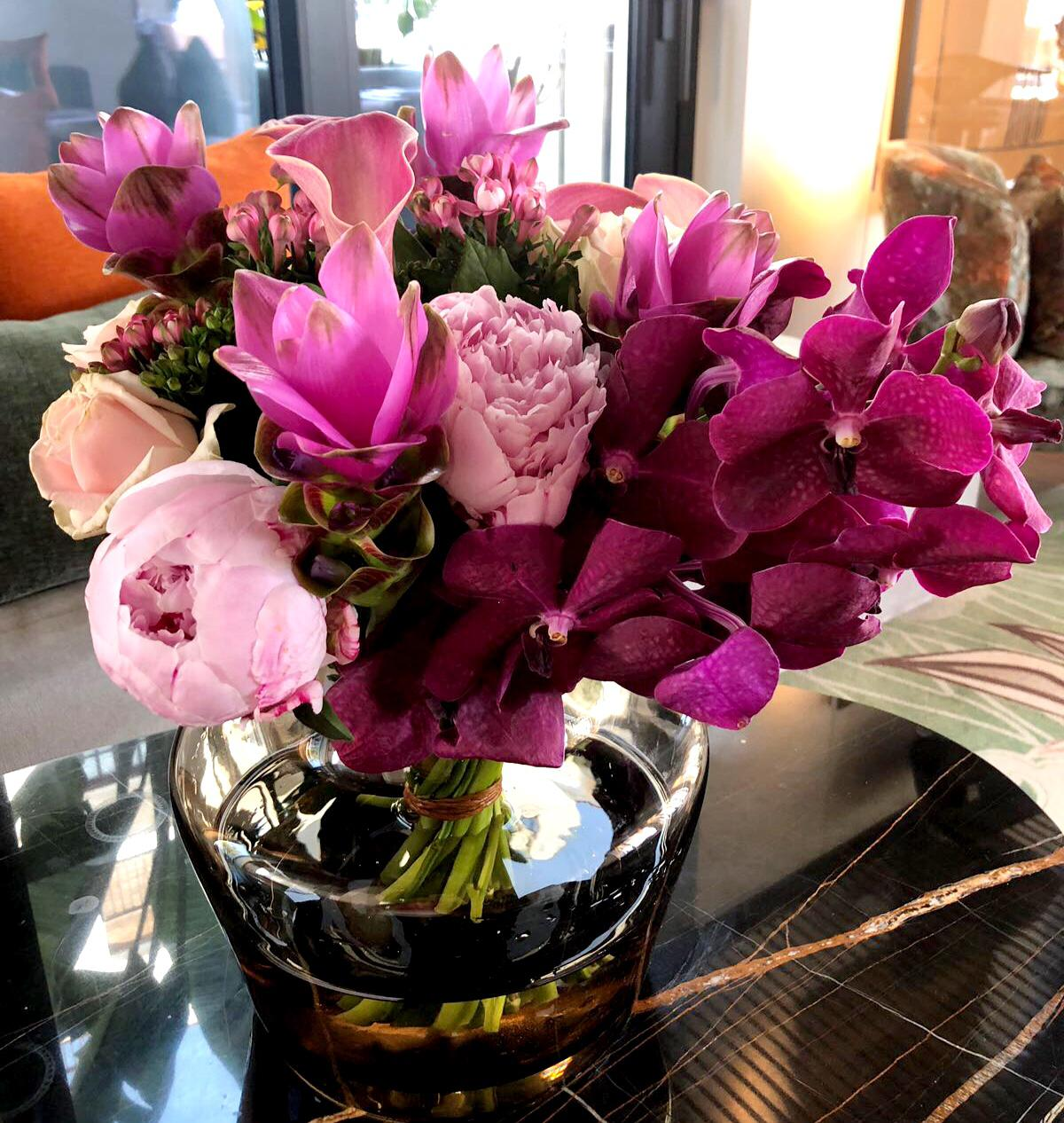 ibiza hotel flowers and fresh bouquets purple