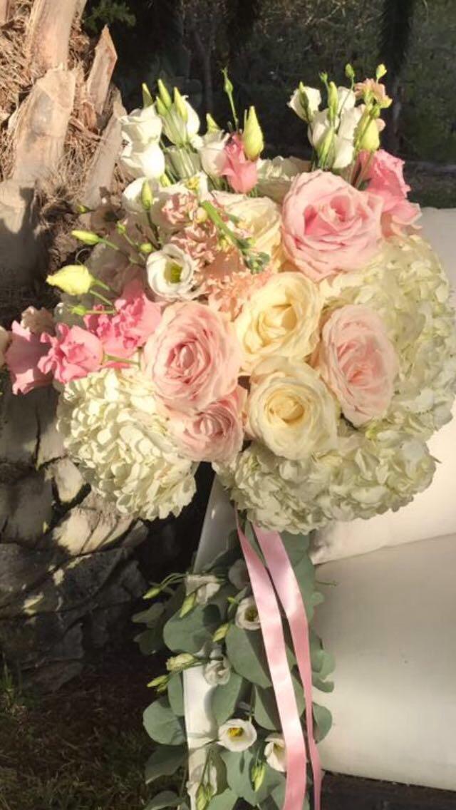 ibiza wedding flowers bouquet peonies flower design