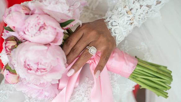 ibiza wedding flowers pink bouquet