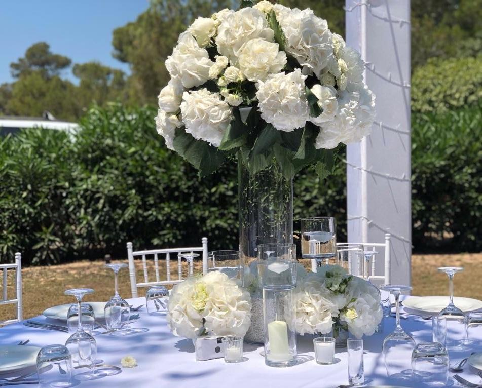 ibiza wedding fresh white flowers