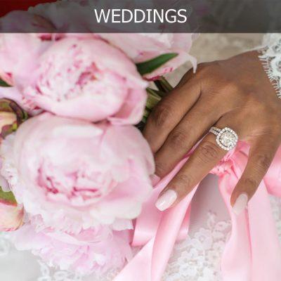 wedding ibiza with bouquet of peonies