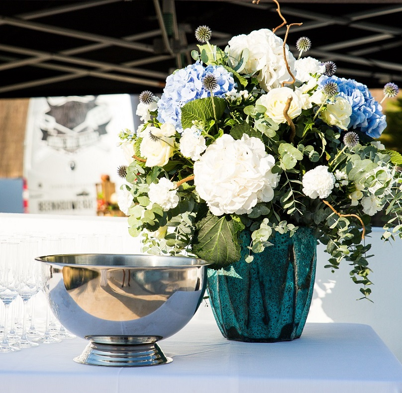 fresh bouquet at event in ibiza