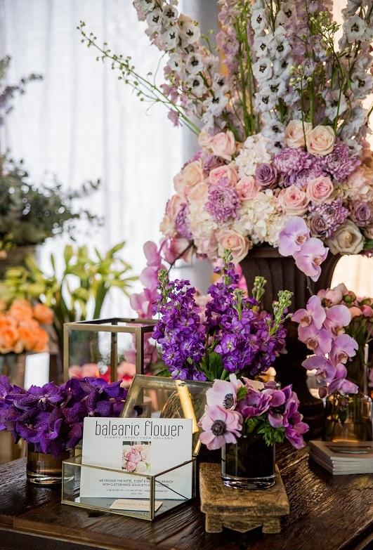 fresh dutch flowers at ibiza event