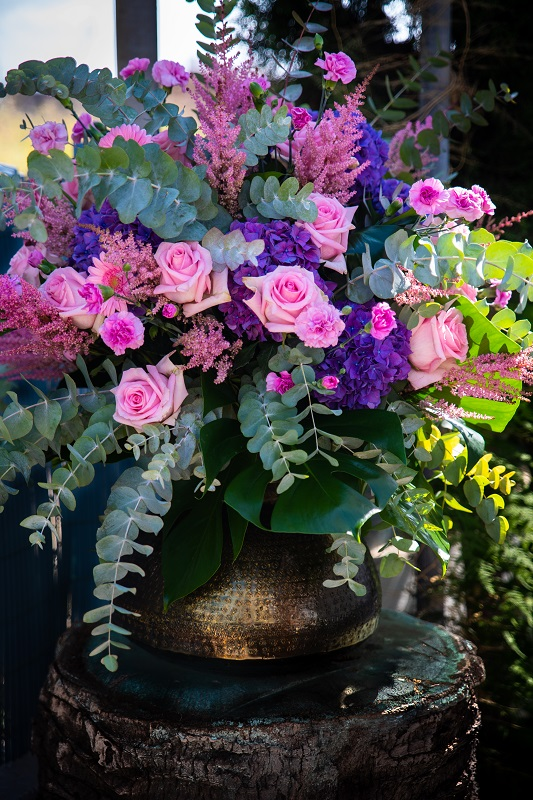 colorful bouquet at event in ibiza